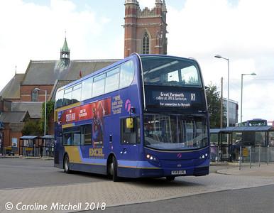 First 33821 (YX63LKL), Lowestoft Bus Station, 28th September 2018