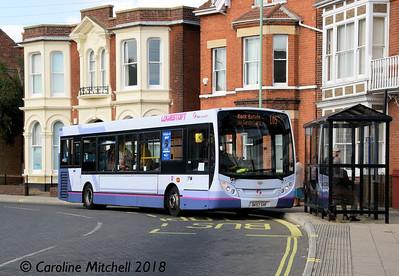 First 44512 (DK57SXF), Gordon Road, Lowestoft, 28th September 2018