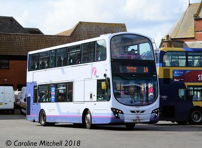 First 36188 (BN12JYL), Lowestoft Bus Station, 28th September 2018