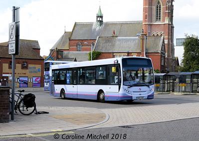 First 44531 (SN62AZW), Lowestoft Bus Station, 28th September 2018