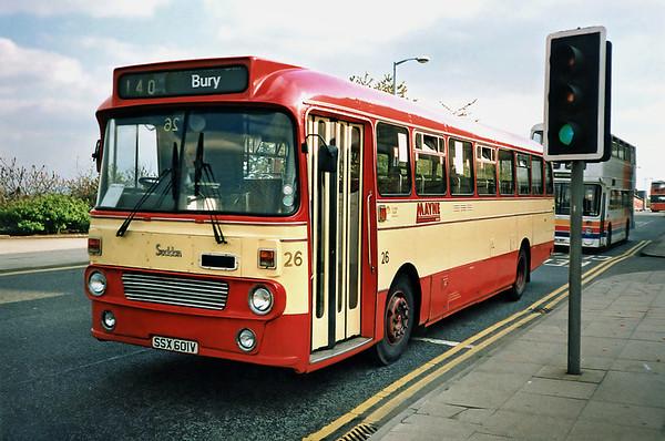 26 SSX601V, Bury 8/5/1991