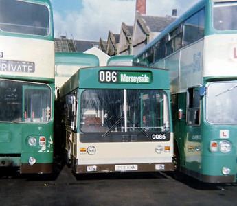 0086 B931KWM, Edge Lane Works 26/3/1988