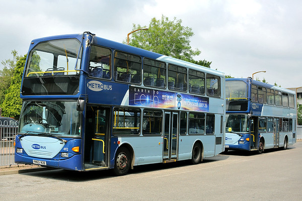 492 YN53RZE and 487 YN53RYZ, Crawley 21/7/2014
