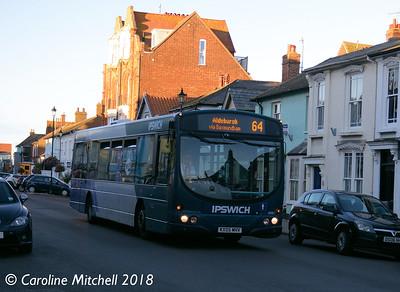 First 66987 (KX05MHV), Aldeburgh, 26th September 2018