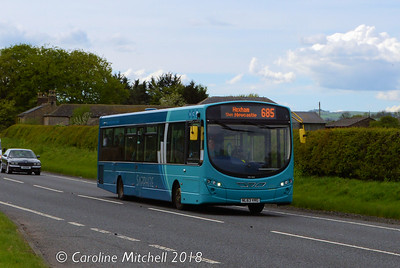 Arriva 1513 (NL63VRG), A69 near Haydon Bridge, 12th May 2018