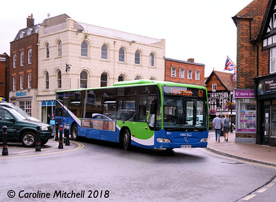 Thames Travel 851 (OF56OXF), Market Place, Wantage, 30th July 2018