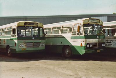 LtoR m/o 5383 Bedford VAM70/CCMC (6/69)  m/o5747 Bedford VAM70/CCMC (12/71)
