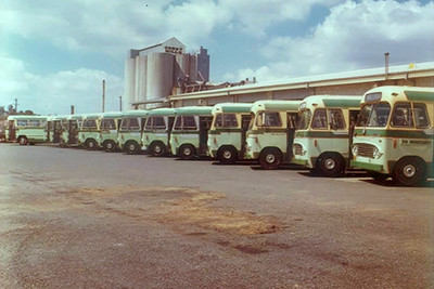 Depot line up in Neil St, Merrylands in early 1970's