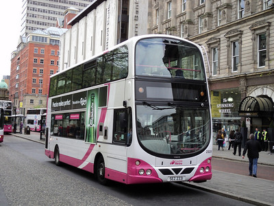 Translink Metro VOLVO B9TL/Wright eclipse gemini at donegal square in belfast