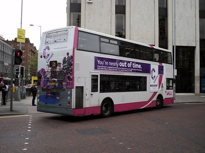 Translink alx400 with rear branding for the 2011 census and side advert reminding people about the fine payable if the form was not returned in time