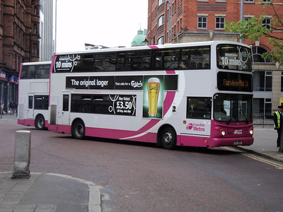 Translink Metro Volvo B7TL/ALX 400 at Donegal Square in belfast showing the high frequency branding applied to the core routes