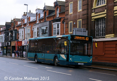 Arriva North East 4718 (YJ10DFU), Linthorpe Road, Middlesbrough, 31st January 2015