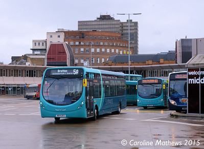 Arriva North East 1551 (NK14GFZ), Middlesbrough Bus Station, 31st January 2015