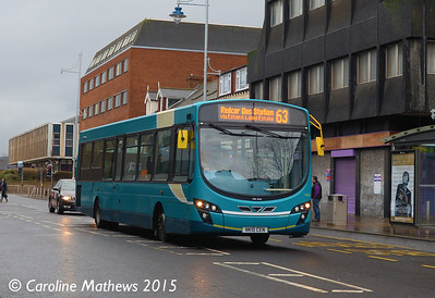 Arriva North East 1434 (NK10CEN), Grange Road, Middlesbrough, 31st January 2015