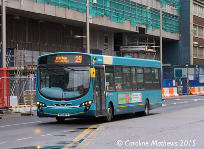 Arriva North East 1454 (NK10CFY), Albert Road, Middlesbrough, 31st January 2015
