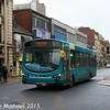Arriva North East 1447 (NK10CFM), Albert Road, Middlesbrough, 31st January 2015