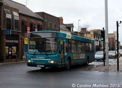 Arriva North East 4505 (V505DFT), Linthorpe Road, Middlesbrough, 31st January 2015