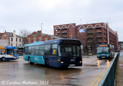 Arriva North East 4657 (NK05GXM), Middlesbrough Bus Station, 31st January 2015