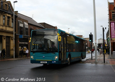 Arriva North East 4715 (YJ10DHL), Middlesbrough, 31st January 2015