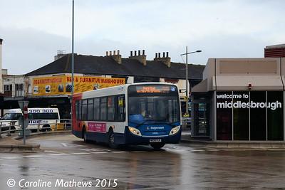 Stagecoach 24105 (NK09FLR), Middlesbrough Bus Station, 31st January 2015