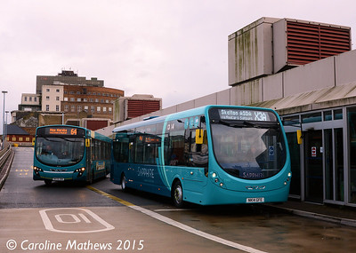 Arriva North East 1563 (NK14GPE), Middlesbrough Bus Station, 31st January 2015