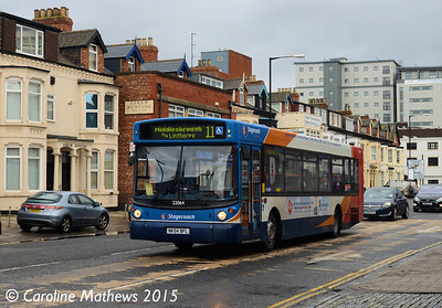 Stagecoach 22064 (NK54BFL), Borough Road, Middlesbrough, 31st January 2015