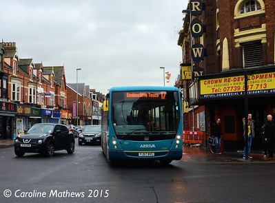 Arriva North East 1924 (YJ57BVC), Linthorpe Road, Middlesbrough, 31st January 2015