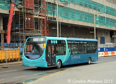 Arriva North East 1552 (NK14GGA), Albert Road, Middlesbrough, 31st January 2015