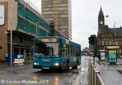 Arriva North East 4502 (V502DFT), Albert Road, Middlesbrough, 31st January 2015