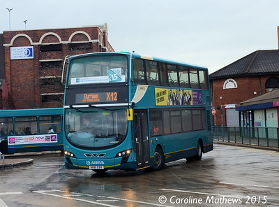 Arriva North East 7626 (NK61EBV), Middlesbrough Bus Station, 31st January 2015