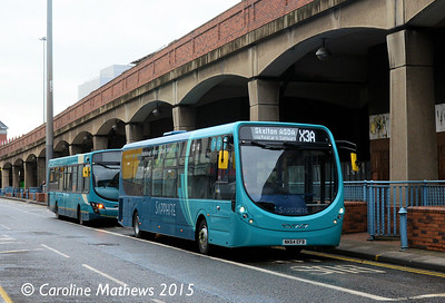 Arriva North East 1565 (NK64EFB), Wilson Street, Middlesbrough, 31st January 2015