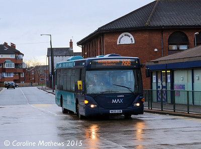 Arriva North East 4657 (NK05GXM), Brentnall Street, Middlesbrough, 31st January 2015