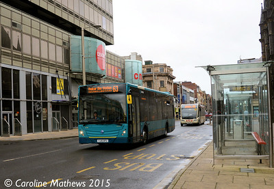 Arriva North East 4718 (YJ10DFU), Albert Road, Middlesbrough, 31st January 2015