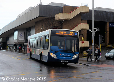 Stagecoach 24113 (NK09FME), Grange Road, Middlesbrough, 31st January 2015