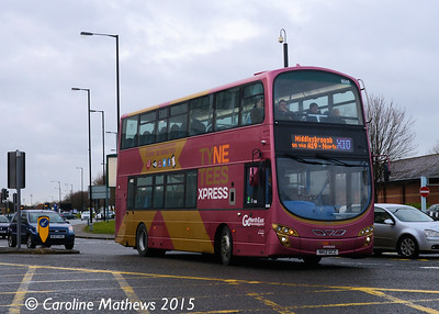Go North East 6046 (NK12GCZ), Newport Road, Middlesbrough, 31st January 2015
