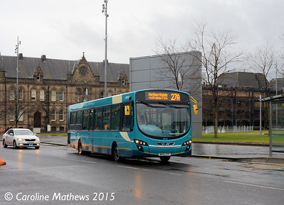 Arriva North East 1450 (NK10CFP), Albert Road, Middlesbrough, 31st January 2015