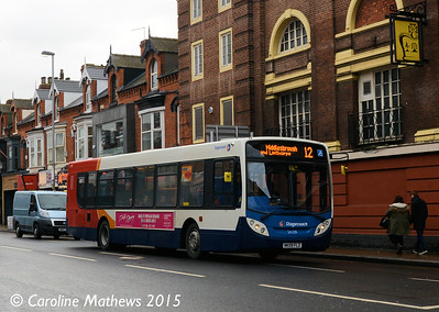 Stagecoach 24109 (NK09FLZ), Linthorpe Road, Middlesbrough, 31st January 2015