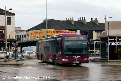 Go North East 5336 (BJ10VUM), Middlesbrough Bus Station, 31st January 2015