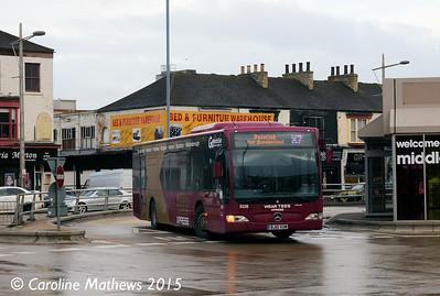 Go North East 5336 (BJ10VUM), Middlesbrough Bus Station, 31st January 2015