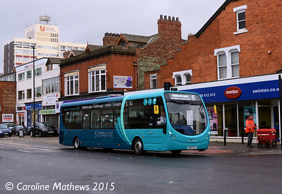 Arriva North East 1552 (NK14GGA), Borough Road, Middlesbrough, 31st January 2015
