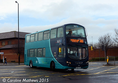 Arriva North East 7406 (NK64FSO), Middlesbrough, 31st January 2015