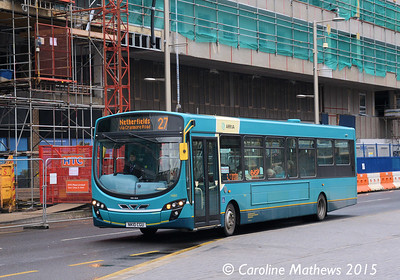 Arriva North East 1460 (NK10CGU), Albert Road, Middlesbrough, 31st January 2015