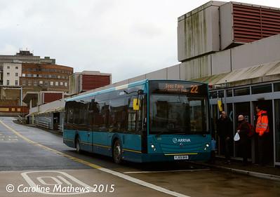 Arriva North East 4704 (YJ59BHV), Middlesbrough Bus Station, 31st January 2015