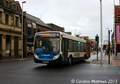 Stagecoach 24105 (NK09FLR), Linthorpe Road, Middlesbrough, 31st January 2015