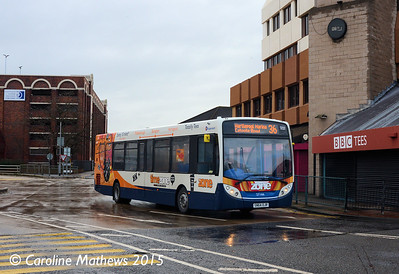 Stagecoach 27166 (SN64OJR), Middlesbrough Bus Station, 31st January 2015