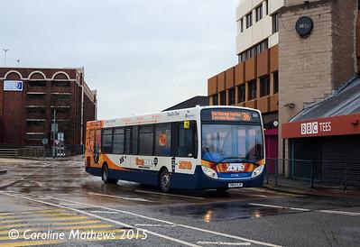 Stagecoach 27166 (SN64OJR), Middlesbrough Bus Station, 31st January 2015