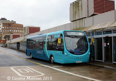 Arriva North East 1568 (NK64EFE), Middlesbrough Bus Station, 31st January 2015