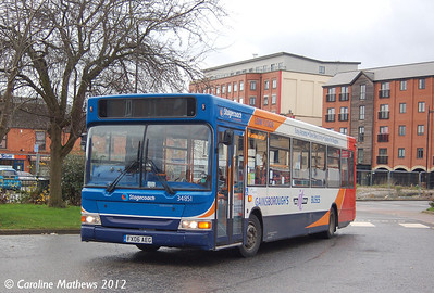 Stagecoach 34851 (FX06AEG), Gainsborough, 22nd November 2012