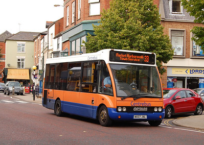Centrebus 393 (MX07JNL), Market Harborough, 13th September 2013