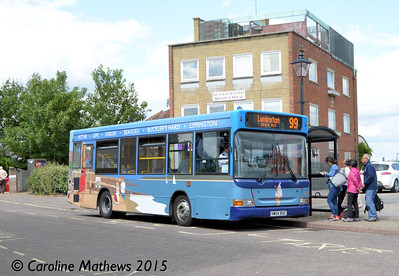 Blue Star 3320 (HW54BUE), Hythe, 25th July 2015